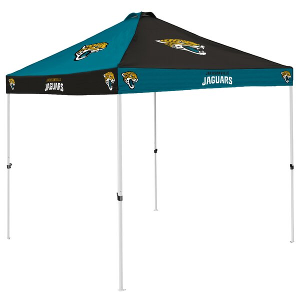 Jacksonville Jaguars Checkerboard 9 Ft. W x 9 Ft. D Steel Pop-Up Canopy by Logo Brands