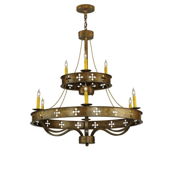 Millsap 9 - Light Candle Style Tiered Chandelier by Canora Grey Canora Grey