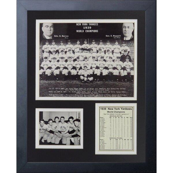 1939 New York Yankees Framed Memorabilia by Legends Never Die