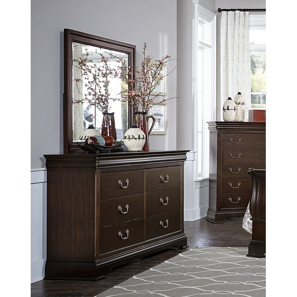 Hebden 6 Drawer Double Dresser with Mirror by Charlton Home