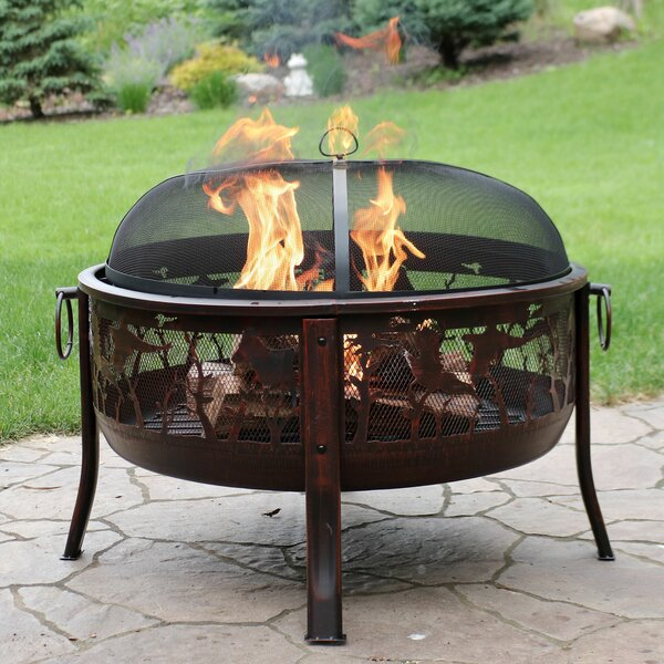 Devan Pheasant Hunting Steel Wood Burning Fire Pit by Millwood Pines