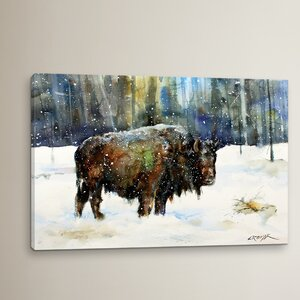 Neihart Bison Painting Print on Wrapped Canvas by Loon Peak