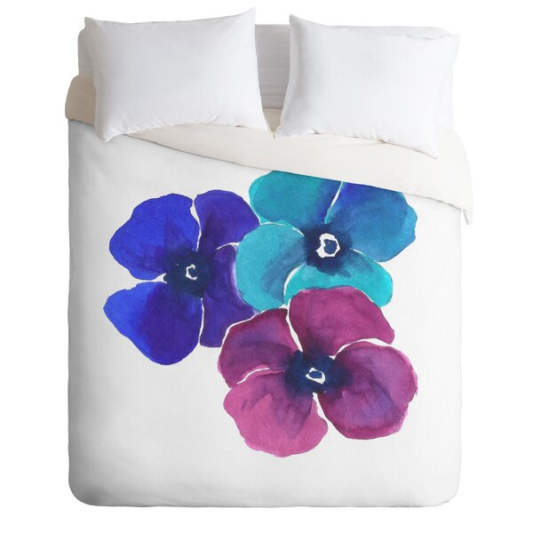 Pansies Duvet Cover Collection by East Urban Home