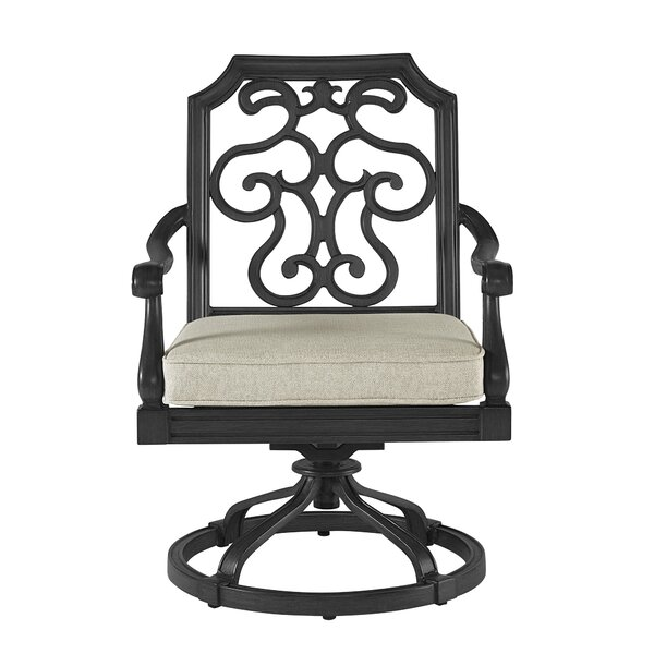Hargrave Outdoor Glider Chair with Cushion by Canora Grey