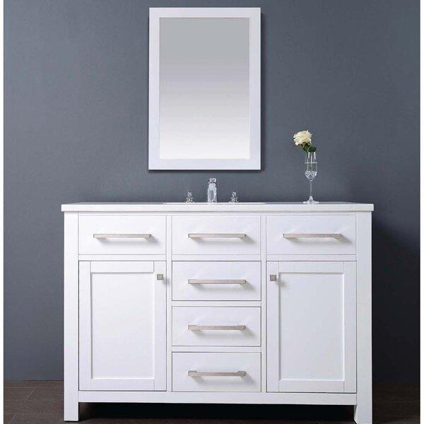 Milan 48 Single Vanity Set with Mirror by Dawn USA
