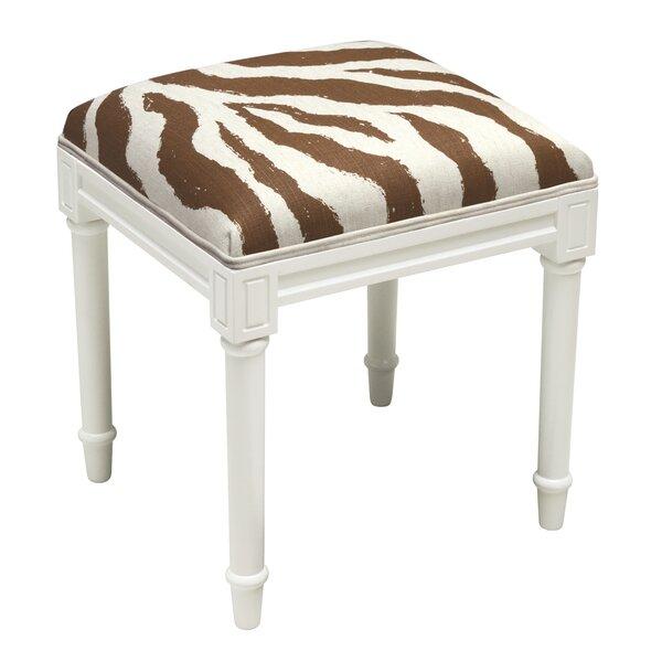 Gillispie Zebra Vanity Stool by Bloomsbury Market