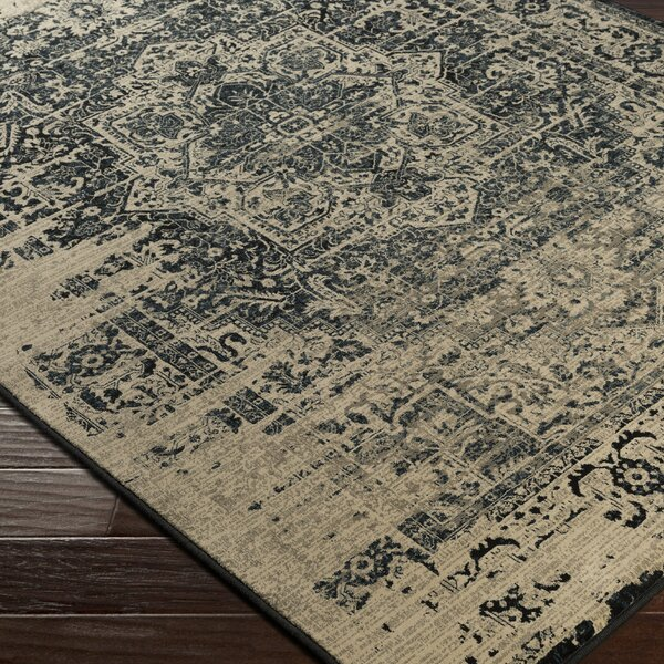 Argentine Back/Beige Area Rug by Bungalow Rose