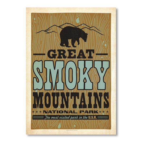 Great Smoky Mountains Bear 2 Vintage Advertisement by Loon Peak