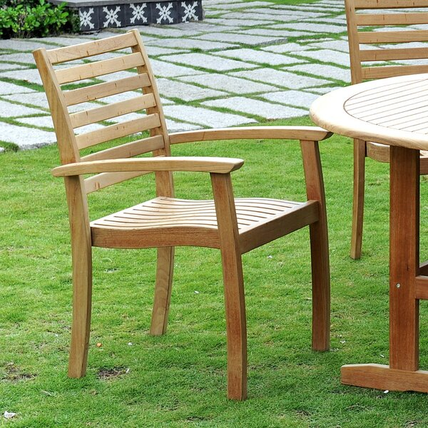 Cooley Stacking Teak Patio Dining Chair (Set of 4) by Darby Home Co