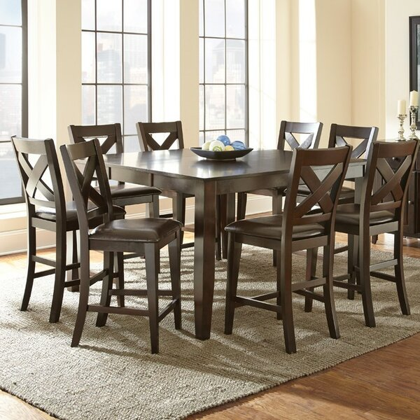 York 9 Piece Counter Height Dining Set by Alcott Hill