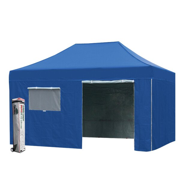 Commercial 8 Ft. W x 12 Ft. D Steel Pop-Up Canopy by Eurmax