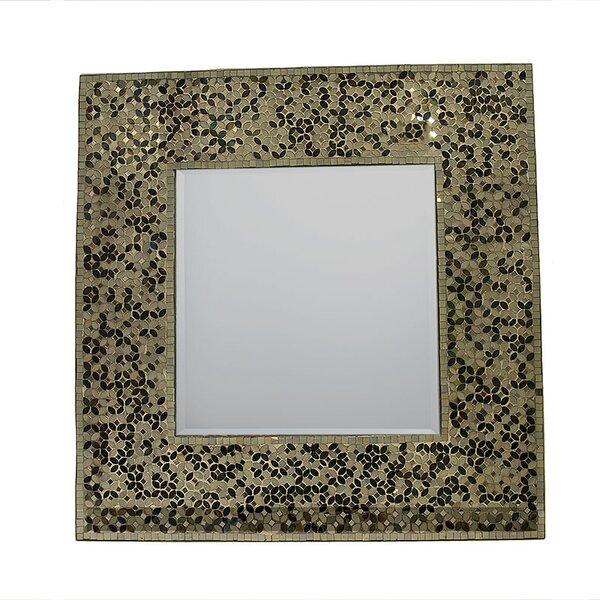 Acquah Mosaic Square Accent Mirror by Bloomsbury Market