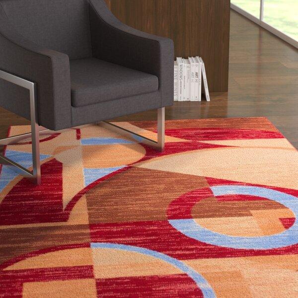 Mattie Circles Area Rug by Ebern Designs