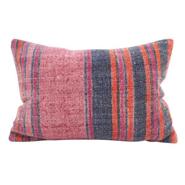 Rupert Stripes Accent Down Filled Lumbar Pillow by Bungalow Rose