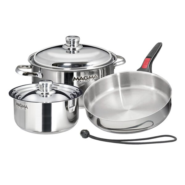 Stainless Steel 7 Piece Cookware Set by MAGMA PRODUCTS, INC