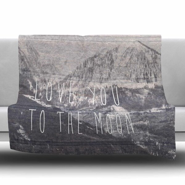 Love You to The Moon by Suzanne Carter Fleece Blanket by East Urban Home