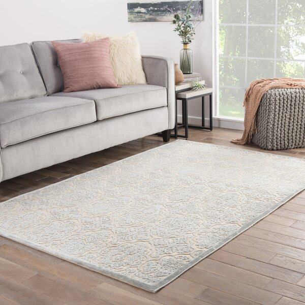 Trinidad Ivory/Blue Area Rug by Astoria Grand