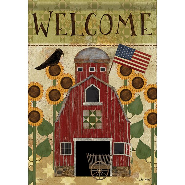 Americana Barn 2-Sided Polyester Garden Flag by Carson Home Accents