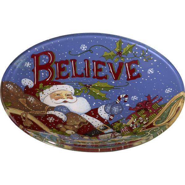 Believe Santa Hand Painted 6.25 Butter Plate by Pr