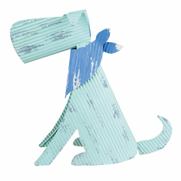 Sitting Corrugated Dog Figurine by Foreside Home & Garden