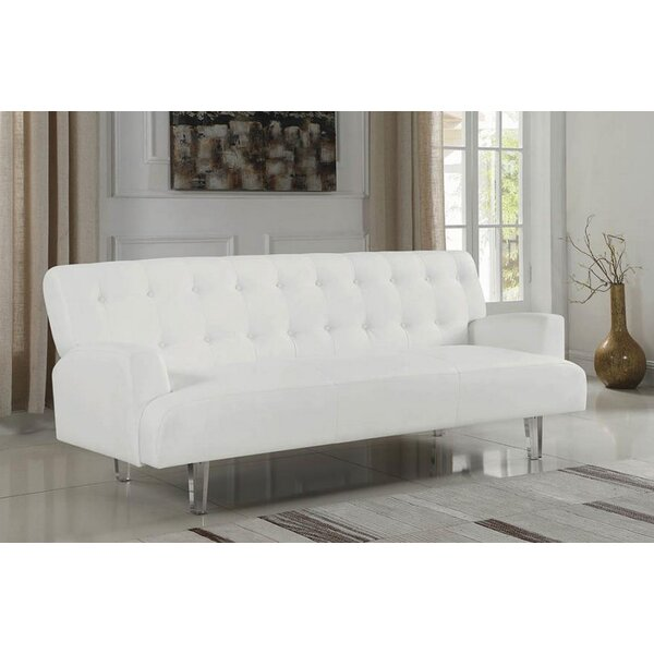 New Ashford Convertible Sofa by Everly Quinn