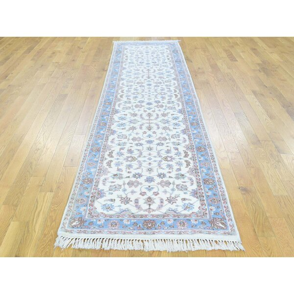 One-of-a-Kind Beatrice Indo Handwoven Ivory Wool Area Rug by Isabelline