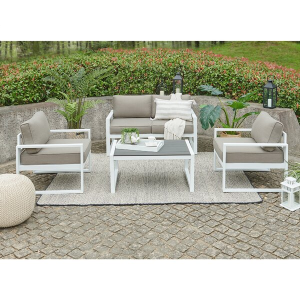 Hanna 4 Piece Sofa Seating Group with Cushions by Orren Ellis