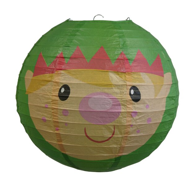 Elf/Elves Christmas Holiday Paper Lantern by The Paper Lantern Store