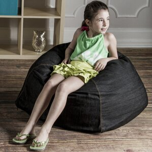Denim Kids Club 2.5' Bean Bag Chair by Jaxx
