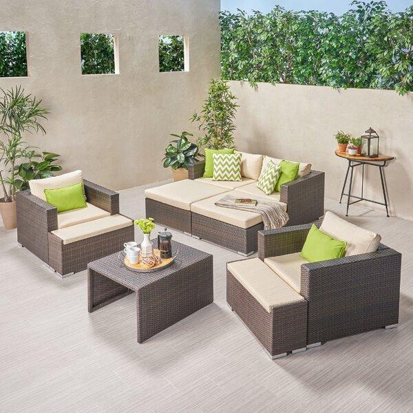 Roselee Outdoor 9 Piece Rattan Sofa Seating Group with Cushions by Brayden Studio Brayden Studio