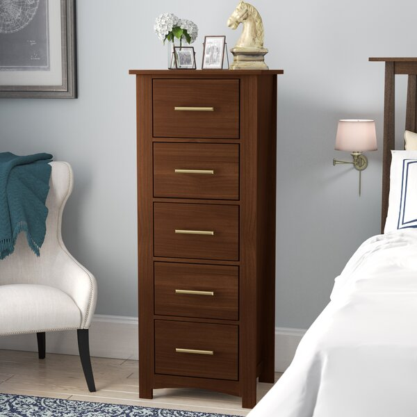 Treville Narrow 5 Drawer Lingerie Chest by Darby Home Co