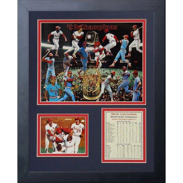 1982 St. Louis Cardinals Framed Memorabilia by Legends Never Die