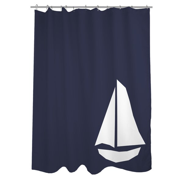 Vintage Sailboat Shower Curtain by One Bella Casa