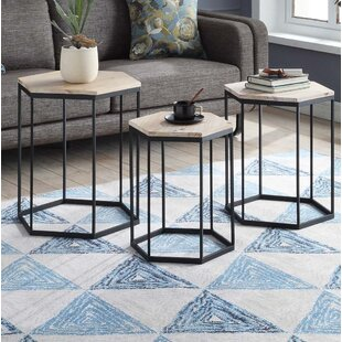 Compare prices Stromberg 3 Piece Nesting Tables By Wrought Studio