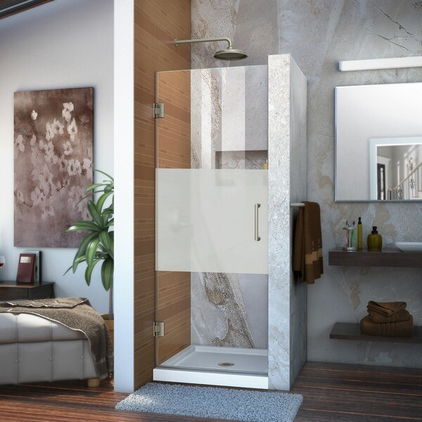 Unidoor 28 x 72 Hinged Frameless Shower Door with ClearMax™ Technology by DreamLine