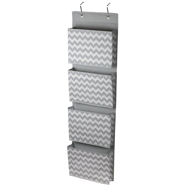 Chevron over the Door Hanging File Organizer by Home Basics