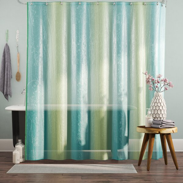 Dismuke Striped Shower Curtain by Bungalow Rose