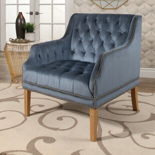 Exceptional Odell Manor Tufted Velvet Arm Chair