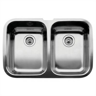 Supreme 32 L x 20.88 W Equal Double Bowl Undermount Kitchen Sink by Blanco