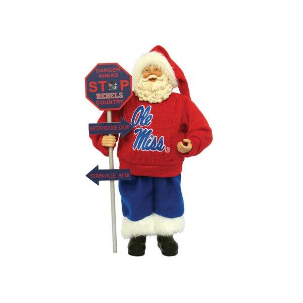 NCAA  Mississippi Country Santa Figurine by Santa's Workshop