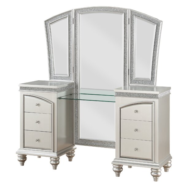Fuson Vanity with Mirror by House of Hampton