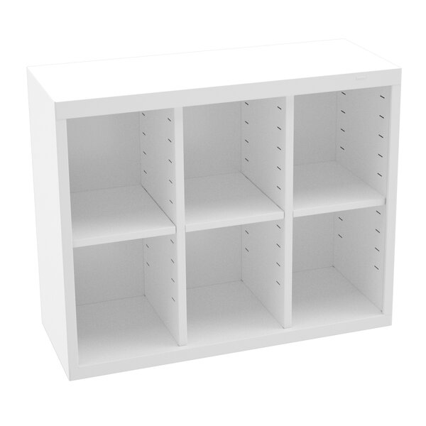 Storage Unit Bin 6 Compartment Cubby by Tennsco Corp.