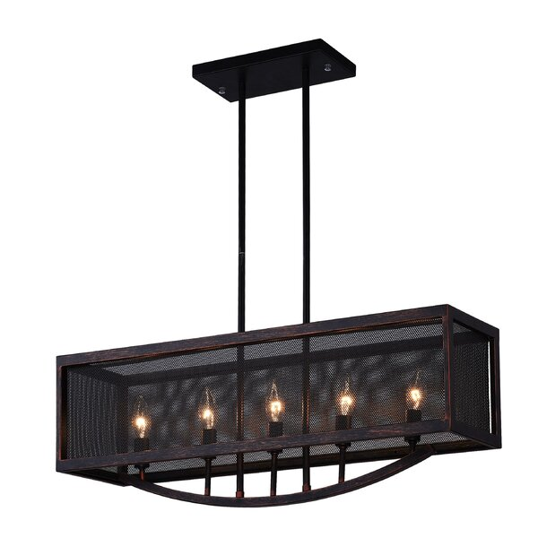 Calypso 5-Light Kitchen Island Pendant by CWI Lighting