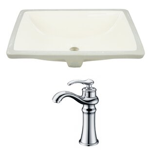 Compare & Buy Ceramic Rectangular Undermount Bathroom Sink with Faucet and Overflow By Royal Purple Bath Kitchen