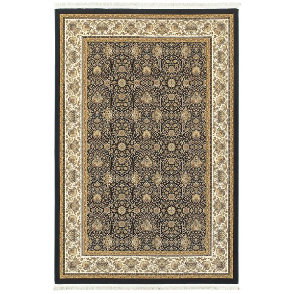 Knepp Panel Navy/Ivory Area Rug by Astoria Grand