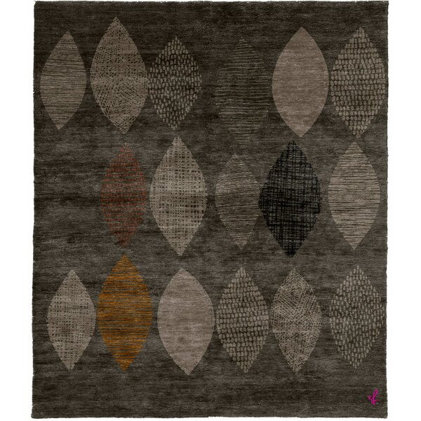 One-of-a-Kind Susann Hand-Knotted Traditional Style Gray 6' x 9' Wool Area Rug