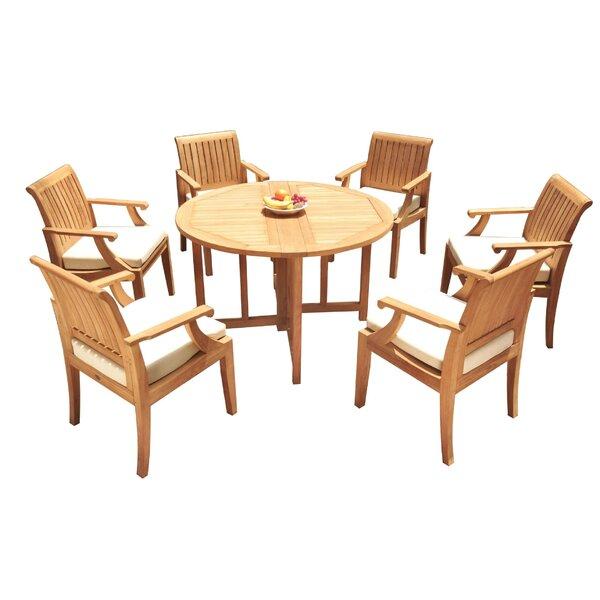 Camren 7 Piece Teak Dining Set by Rosecliff Heights