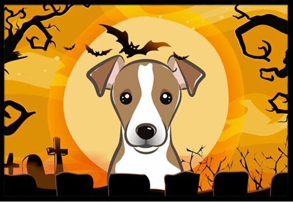 Halloween Jack Russell Terrier Doormat by Caroline's Treasures