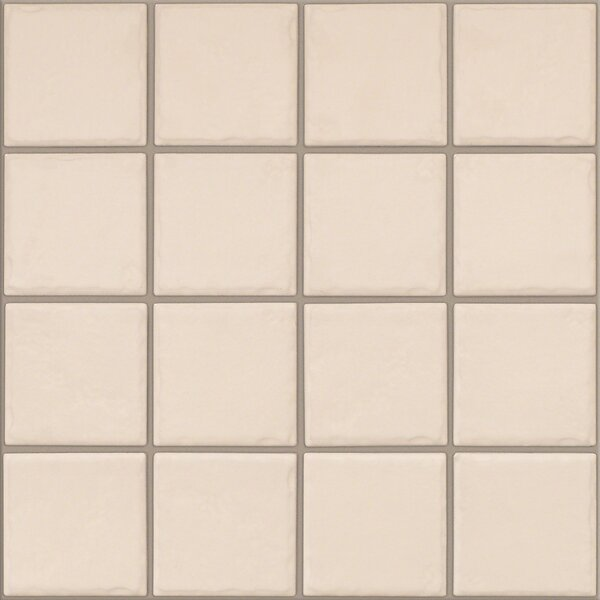 Fenton 3 x 3 Ceramic Mosaic Tile in Oatmeal by Shaw Floors