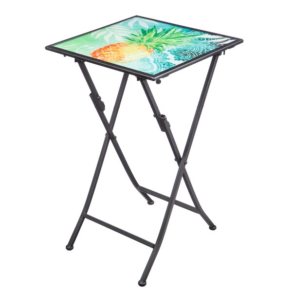 Catasetum Folding Steel Bistro Table by Bay Isle Home